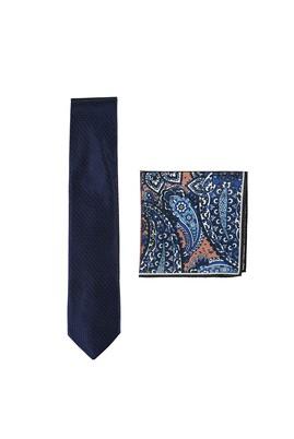 Erkek Giyim - LACİVERT  Beden 2'li Kravat Mendil Set