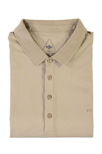 Erkek Giyim - King Size Polo Yaka Süprem Tişört