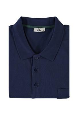 Erkek Giyim - LACİVERT 4X Beden King Size Polo Yaka Tişört