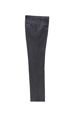 Erkek Giyim - KOYU FÜME 50 Beden Slim Fit Klasik Pantolon