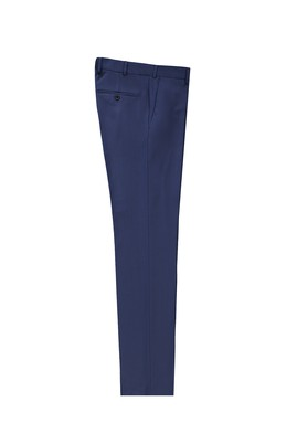 Erkek Giyim - AÇIK LACİVERT LOT4 50 Beden Slim Fit Klasik Yünlü Pantolon