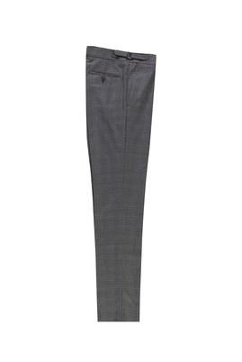 Erkek Giyim - MARENGO 54 Beden Slim Fit Yünlü Tokalı Pileli Klasik Pantolon