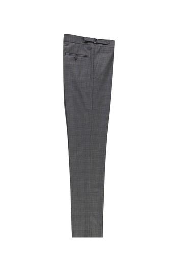 Erkek Giyim - Slim Fit Yünlü Tokalı Pileli Klasik Pantolon