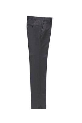 Erkek Giyim - ORTA FÜME 54 Beden Slim Fit Klasik Kuşgözü Pantolon