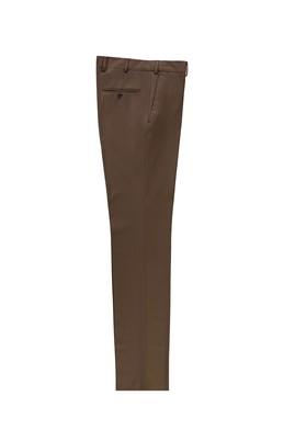 Erkek Giyim - KOYU VİZON LOT2 54 Beden Slim Fit Klasik Yünlü Pantolon