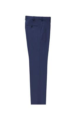 Erkek Giyim - AÇIK LACİVERT LOT2 56 Beden Klasik Yünlü Pantolon