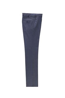 Erkek Giyim - KOYU PETROL 48 Beden Slim Fit Klasik Kuşgözü Pantolon