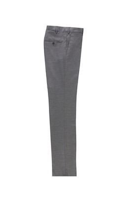 Erkek Giyim - AÇIK GRİ 52 Beden Slim Fit Klasik Kuşgözü Pantolon