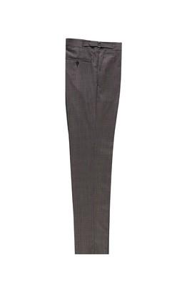Erkek Giyim - AÇIK KAHVE 46 Beden Slim Fit Yünlü Tokalı Pileli Klasik Pantolon