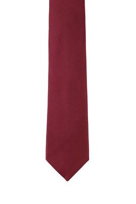 Erkek Giyim - KOYU BORDO 165 Beden Düz Saten Kravat