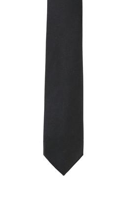 Erkek Giyim - SİYAH 165 Beden Düz Saten Kravat