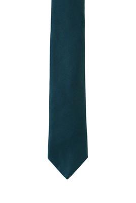 Erkek Giyim - KOYU YEŞİL 165 Beden Düz Saten Kravat