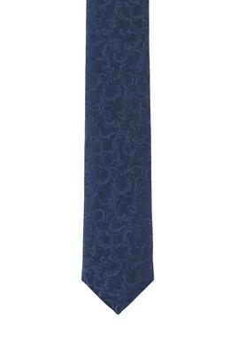 Erkek Giyim - ORTA LACİVERT 165 Beden İnce Desenli Kravat