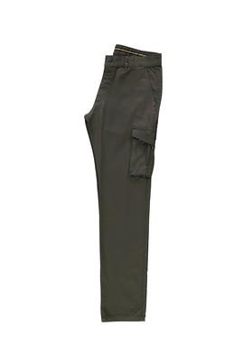 Erkek Giyim - HAKİ 50 Beden Slim Fit Spor Desenli Pantolon
