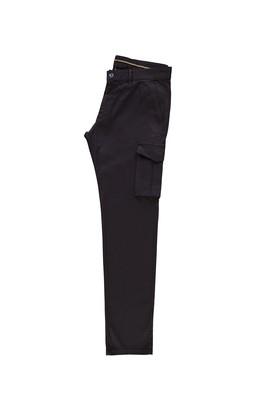 Erkek Giyim - KOYU KAHVE 50 Beden Slim Fit Spor Desenli Pantolon