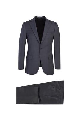 Erkek Giyim - MARENGO 60 Beden Klasik Yünlü Desenli Takım Elbise