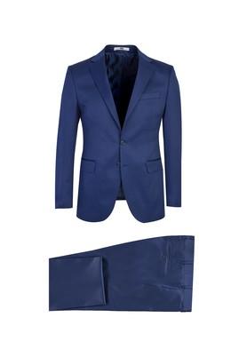 Erkek Giyim - KOYU MAVİ 44 Beden Slim Fit Takım Elbise