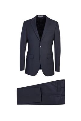 Erkek Giyim - SİYAH LACİVERT 58 Beden Klasik Yünlü Takım Elbise