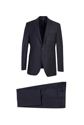 Erkek Giyim - SİYAH LACİVERT 62 Beden Klasik Yünlü Takım Elbise