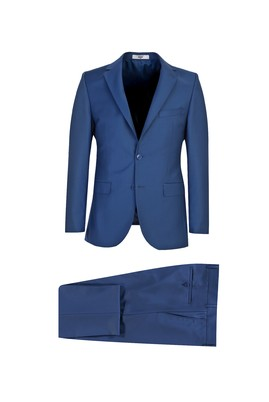 Erkek Giyim - MAVİ 48 Beden Slim Fit Takım Elbise