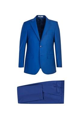 Erkek Giyim - MAVİ 52 Beden Klasik Takım Elbise