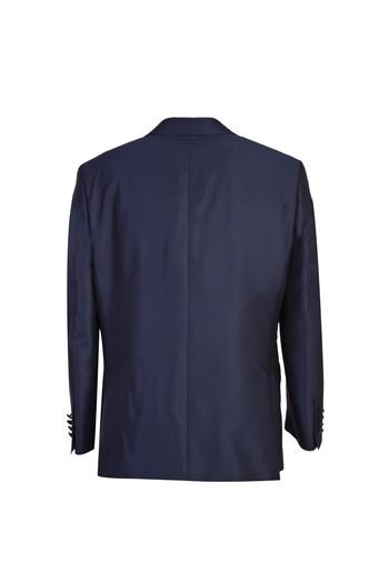 Erkek Giyim - Sivri Yaka Desenli Smokin / Damatlık