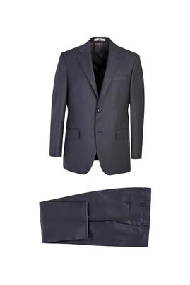 Erkek Giyim - ORTA FÜME 46 Beden Slim Fit Desenli Takım Elbise