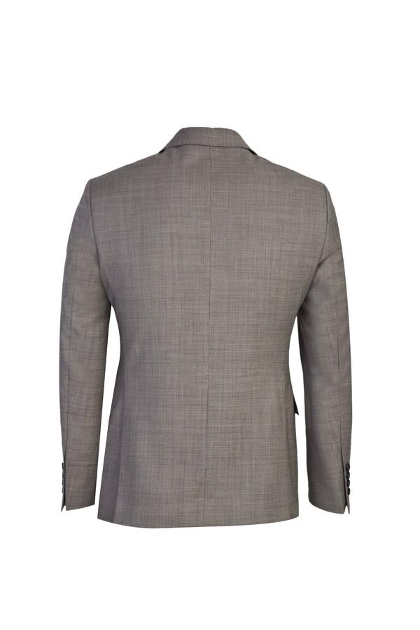 Slim Fit Desenli Yünlü Takım Elbise