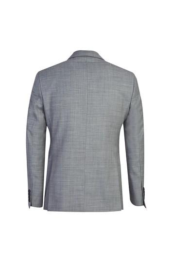 Erkek Giyim - Slim Fit Desenli Yünlü Takım Elbise