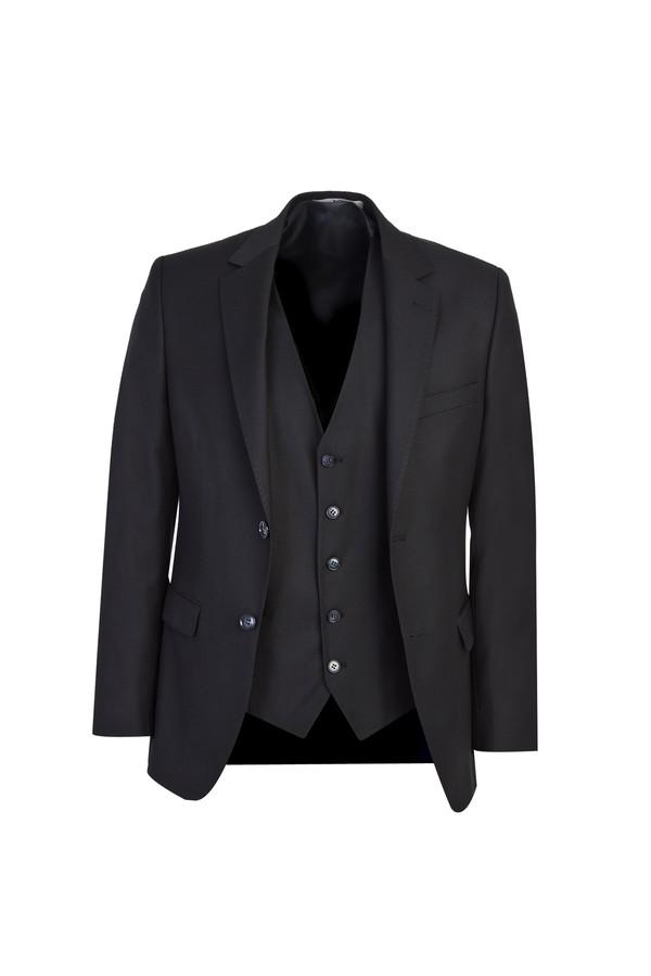 Yelekli Klasik Takım Elbise