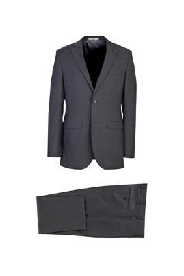 Erkek Giyim - ORTA FÜME 58 Beden Klasik Yünlü Takım Elbise