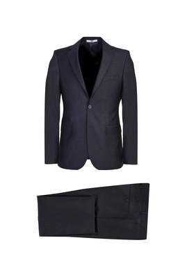 Erkek Giyim - KOYU LACİVERT 48 Beden Slim Fit Takım Elbise