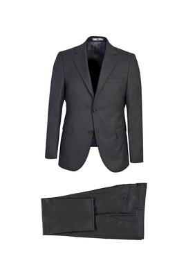 Erkek Giyim - KOYU FÜME 52 Beden Slim Fit Takım Elbise