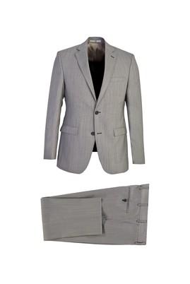 Erkek Giyim - AÇIK GRİ-LOT 1 52 Beden Klasik Yünlü Takım Elbise