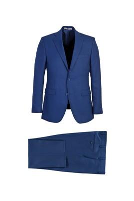 Erkek Giyim - KOYU MAVİ 56 Beden Klasik Yünlü Takım Elbise