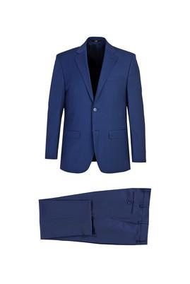Erkek Giyim - KOYU MAVİ 54 Beden Klasik Yünlü Takım Elbise
