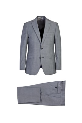 Erkek Giyim - ORTA GRİ 64 Beden Klasik Yünlü Takım Elbise