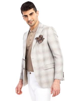 Erkek Giyim - TOPRAK 50 Beden Klasik Ekose Ceket