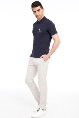 Erkek Giyim - Krem 54 Beden Slim Fit Spor Pantolon