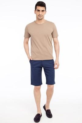 Erkek Giyim - KOYU MAVİ 46 Beden Bermuda Şort