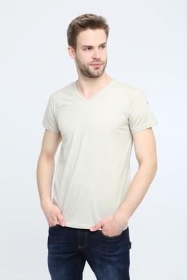 Erkek Giyim - KUM 3X Beden V Yaka Slim Fit Tişört