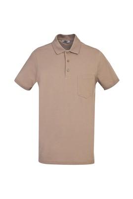 Erkek Giyim - KOYU VİZON 3X Beden Polo Yaka Regular Fit Tişört