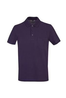 Erkek Giyim - AÇIK MOR 3X Beden Polo Yaka Regular Fit Tişört