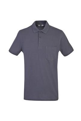 Erkek Giyim - ORTA GRİ 3X Beden Polo Yaka Regular Fit Tişört