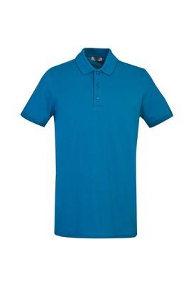 Erkek Giyim - PETROL YEŞİLİ 3X Beden Polo Yaka Slim Fit Tişört