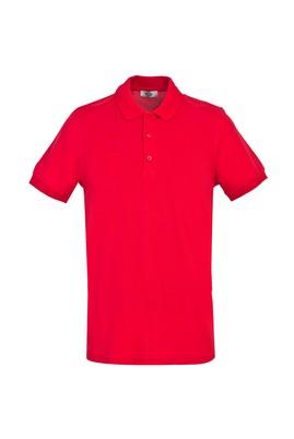Erkek Giyim - BAYRAK KIRMIZI 3X Beden Polo Yaka Slim Fit Tişört