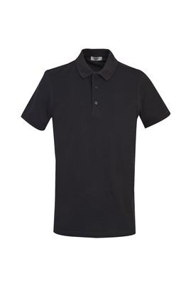 Erkek Giyim - KOYU ANTRASİT 3X Beden Polo Yaka Slim Fit Tişört