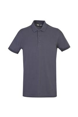 Erkek Giyim - ORTA GRİ XL Beden Polo Yaka Slim Fit Tişört