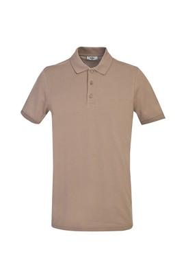 Erkek Giyim - KOYU VİZON 3X Beden Polo Yaka Slim Fit Tişört