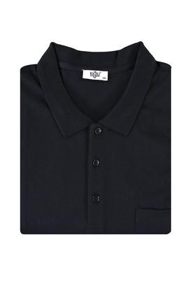 Erkek Giyim - SİYAH 4X Beden King Size Polo Yaka Tişört